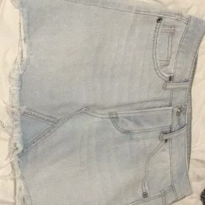 American eagle light wash jean skirt